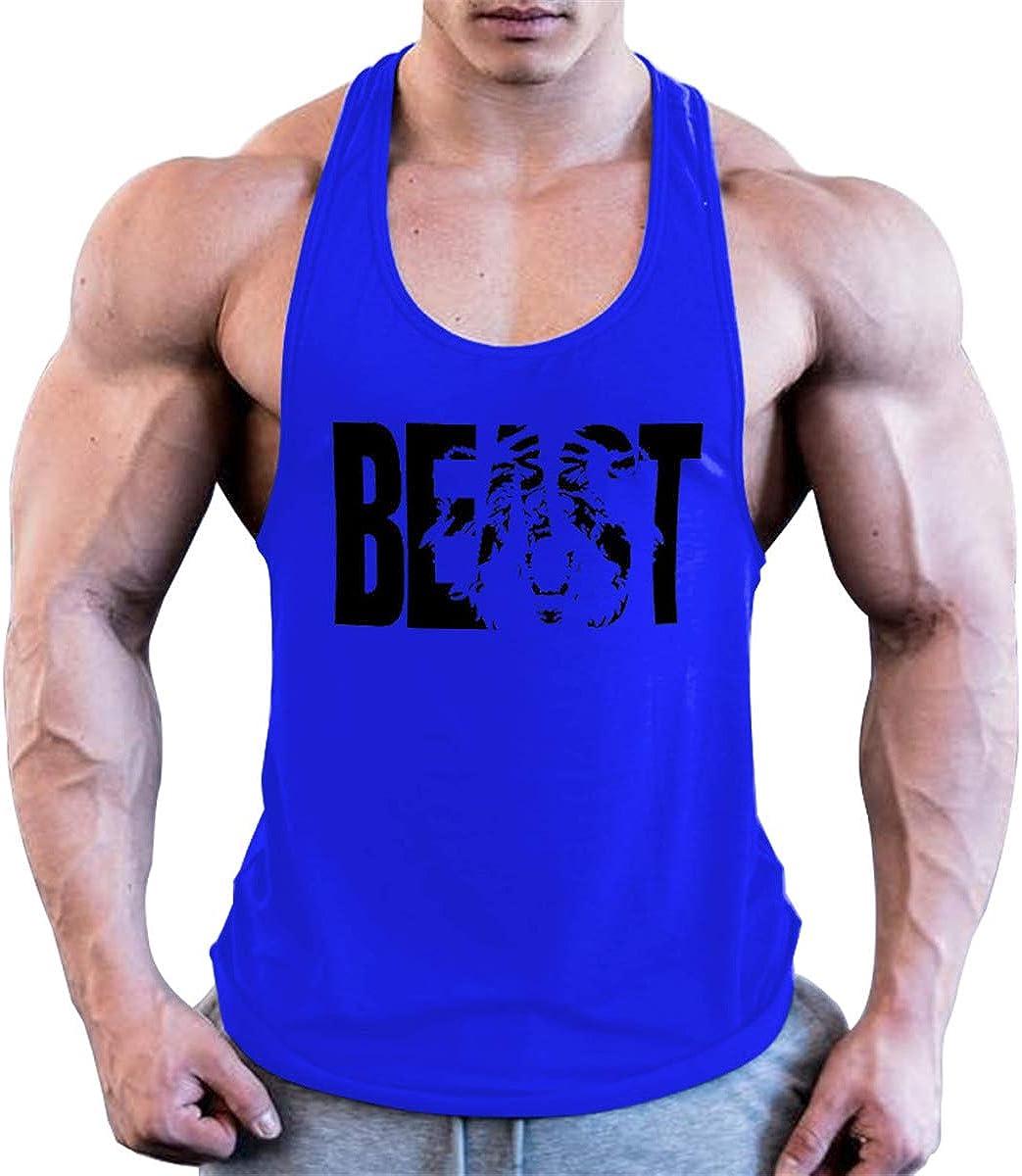 Cabeen Hombres Camisetas de Tirantes Gimnasio Stringer Deporte y Fitness algod/ón
