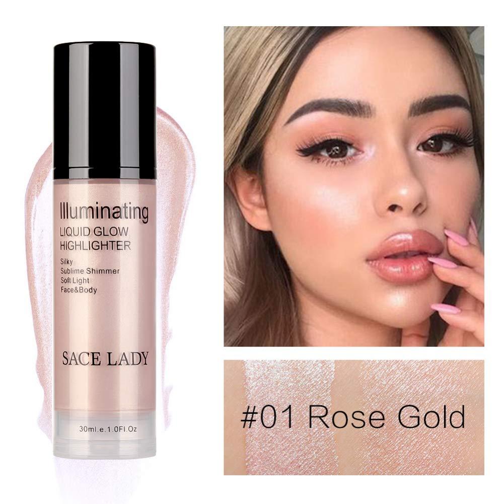 Allbesta - Crema iluminadora para maquillaje facial y corporal, 30 ml, brillo brillante