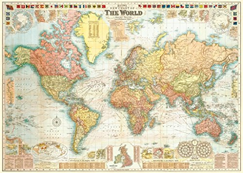 Sir Francis Bacon 1907 Historical Replica Map of the World 18x27.5 Poster