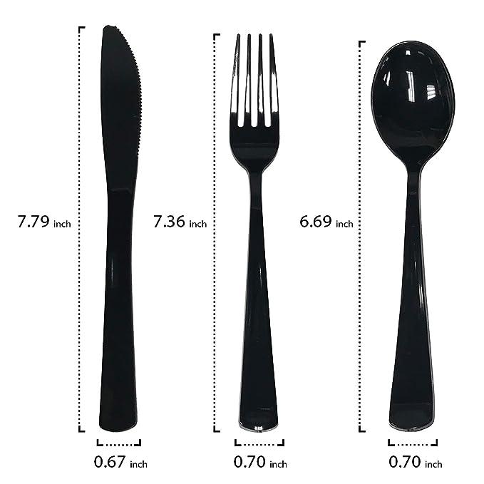 cuchillos de calidad Premium X 100 tenedores Heavy Duty Crema//Champán Plástico Cucharas