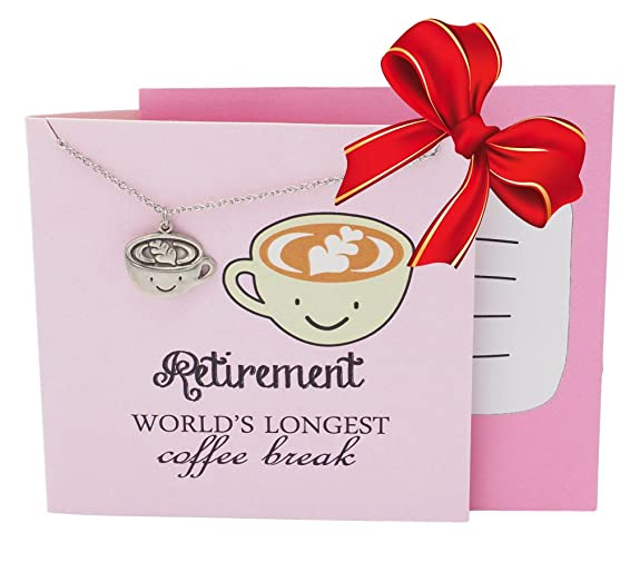Quan Jewelry Coffee Cup Gifts Necklace For Lovers And Enthusiasts Funny Mug Perfect