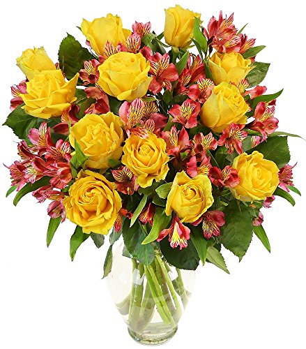 Benchmark Bouquets Exquisite Roses and Alstroemeria