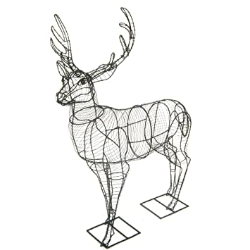 Deer (Stag) Large Topiary frame: Amazon.co.uk: Garden & Outdoors