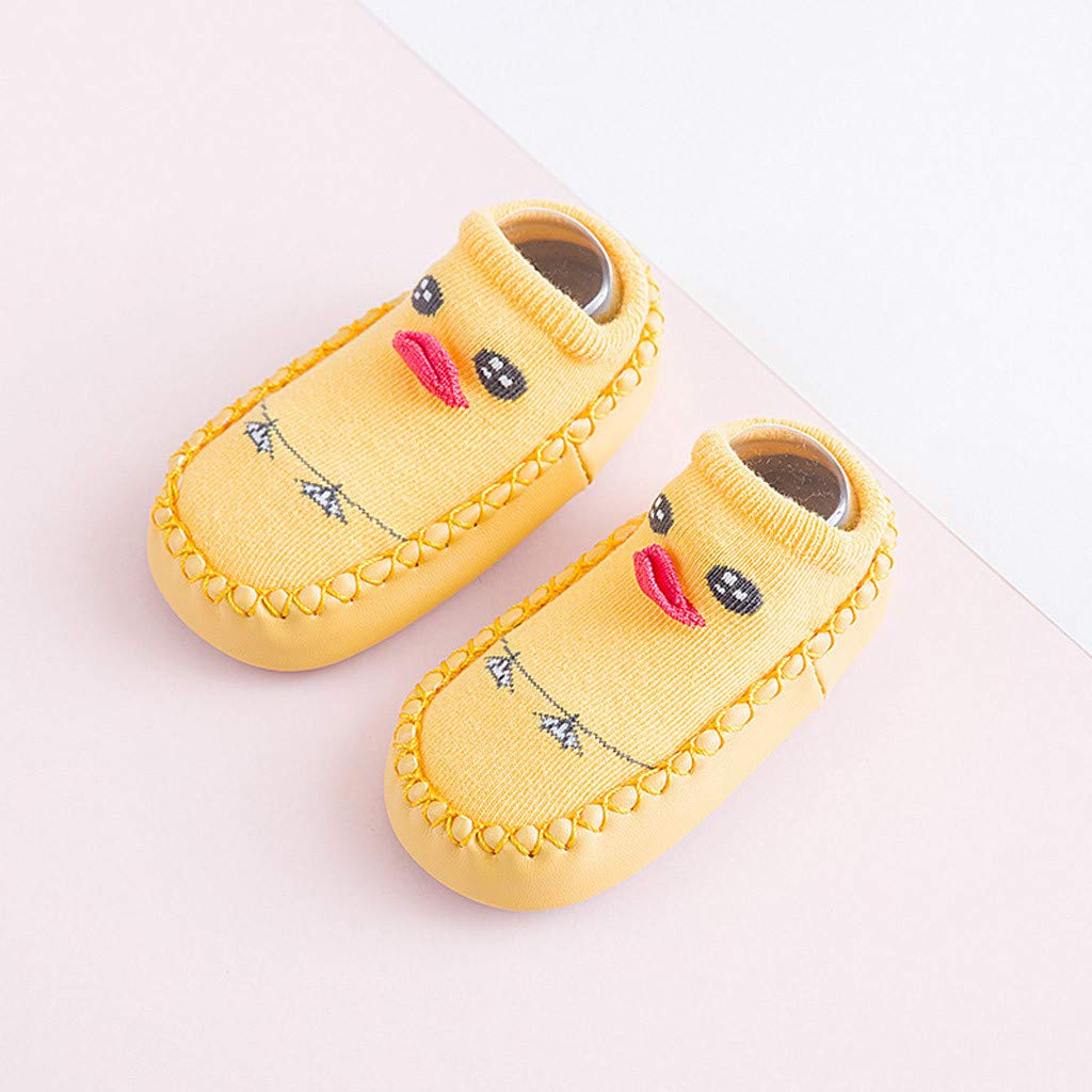 FIged Cute Animal Toddler Boy Girl Cartoon Casual Step Floor Anti-Slip Socks