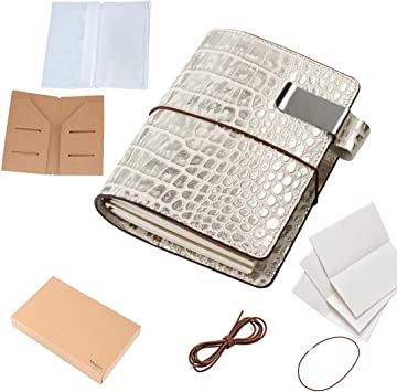 Genuine Leather Crocodile Print Pen Stationary Pouch Holder