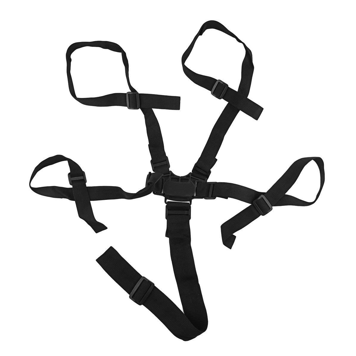 Universal Baby 5 Points Harnais Safe Ceinture B/éb/é Chaise Ceinture De S/écurit/é Haute Qualit/é /À Manger Chaise Chaise Bandage Ceinture De S/écurit/é noir WEIWEITOE