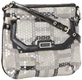 Nine West Vegas Signs Photo Print Cross Body,Black,One Size, Bags Central