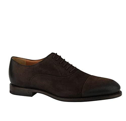 06dec137f5c4bf Gucci Men s Lace-up Black Brown Suede Leather Oxford Shoes 282754 2140 (G