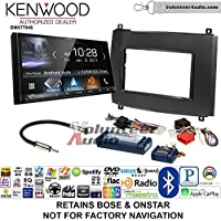 Volunteer Audio Kenwood DMX7704S Double Din Radio Install Kit with Apple CarPlay Android Auto Bluetooth Fits 2003-2007 Cadillac CTS, 2004-2006 SRX