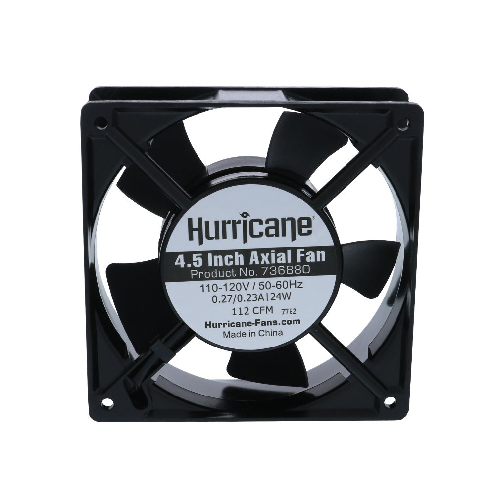 Hurricane 4.5-Inch Axial Fan for Greenhouses, 112CFM by Hurricane