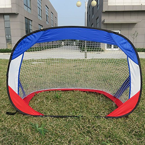 Portable Soccer Goals Indoor - RiverView Enterprise Metal Rimmed Portable Pop-Up/Collapsible/Folding Soccer Goal (4 Ft.) with Net for Indoor/Backyard use Children Both Toddlers/Youth