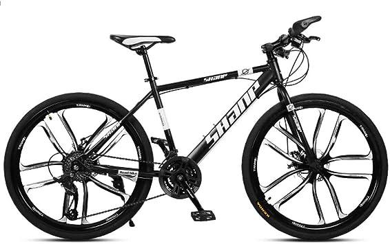 MYMGG Bicicletas De 21 Velocidades (24 Velocidades, 27 Velocidades, 30 Velocidades) Bicicleta De Carretera Freno De Disco Dual: Amazon.es: Deportes y aire libre