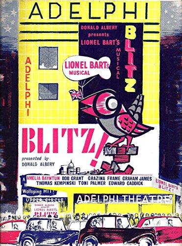 "Lionel Bart ""BLITZ!"" Amelia Bayntun / Bob Grant 1962 London Souvenir Program"