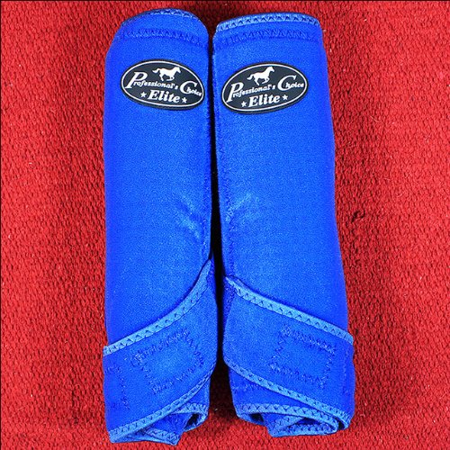 Professionals Choice Equine Sports Medicine Ventech Elite Rear Leg Boot, Pair (Medium, Royal Blue)