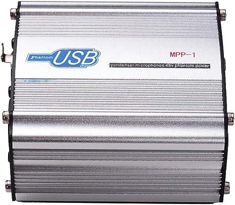 Muslady Caja de Alimentación Fantasma 48V para Grabación de Música de Estudio de Micrófono de Condensador Operación Alimentada por USB: Amazon.es: Instrumentos musicales