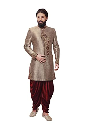 050ee98b9e Readymade Indian Wedding Sherwani Set for Men Marriage Party wear Outfit  Ethnic Traditional Dress in Brown