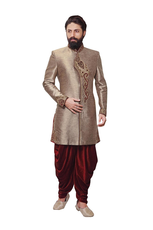 Indian Sherwani For Men Readymade Designer Partywear For Wedding Exclusive Fashion Indo-Western Dress