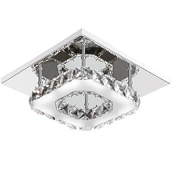 Goeco kristall deckenlampe modern deckenleuchte LED Leuchter ...