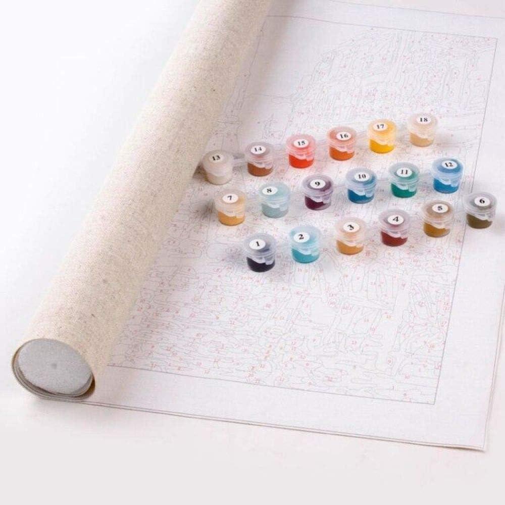 sans Cadre 16X20 Pouces JDSHFJ DIY Peinture /À lhuile Peinture par Adultes Peindre par Nombre Kits Chiot Citrouille
