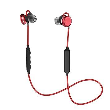 Auriculares Bluetooth, KOOHO Auricular Magnéticos Bluetooth 4.1, Cascos Inálambrico CSR Chips HiFi Estéreo, Sweatproof IPX7, Micrófono Incorporado y ...