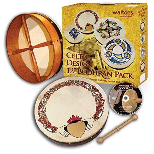 Waltons 12 Bodhran Gift Set Claddagh