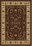 Home Dynamix Royalty 3208-511 Polypropylene 7-Feet 8-Inch by 10-Feet 4-Inch Area Rug, Brown/Ivory