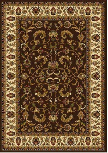 Antique 8x10 Area (Home Dynamix Royalty 3208-511 Polypropylene 7-Feet 8-Inch by 10-Feet 4-Inch Area Rug, Brown/Ivory)