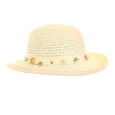 Ladies Crushable Summer Sun Straw Hat with Shell Band  Amazon.co.uk ... 00f2aec36ab