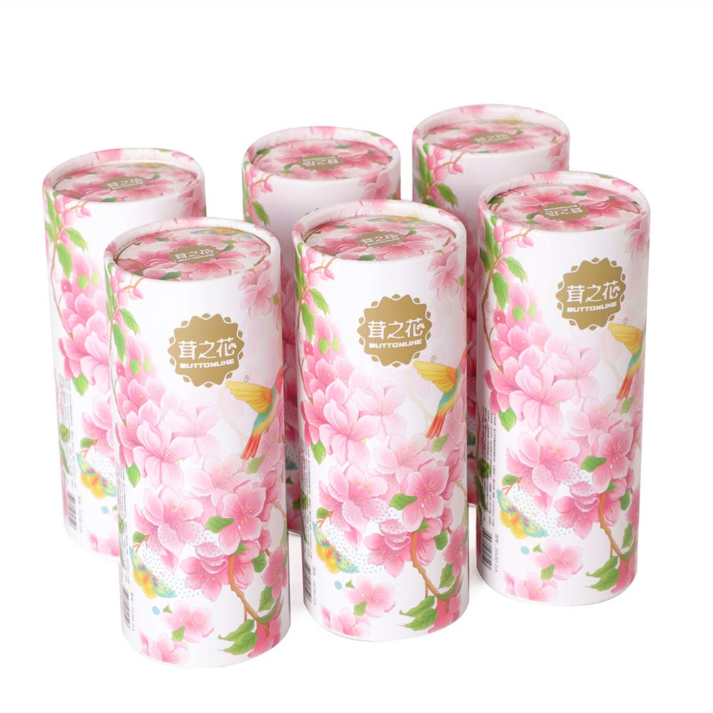 Facial Tissues Cylinder, 120 Count (6 pack), Gentle and Durable, Design Friendly for Car Use and Home Use cherry
