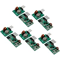 Homyl 5 Pairs (10Pcs) 433Mhz Rf Transmitter and Receiver Module Link Kit for Arduino/Raspberry pi/Wireless DIY