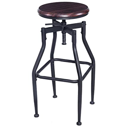 Fine Amazon Com Wichai Shop New Vintage Bar Stool Industrial Machost Co Dining Chair Design Ideas Machostcouk