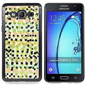 For Samsung Galaxy On5 O5 Case , Arte Cuadrados Pintura Patrón - Diseño Patrón Teléfono Caso Cubierta Case Bumper Duro Protección Case Cover Funda