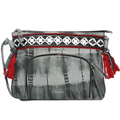 Handbags For Women Tie Dye Leather Hand Embroidered Crossbody Soft