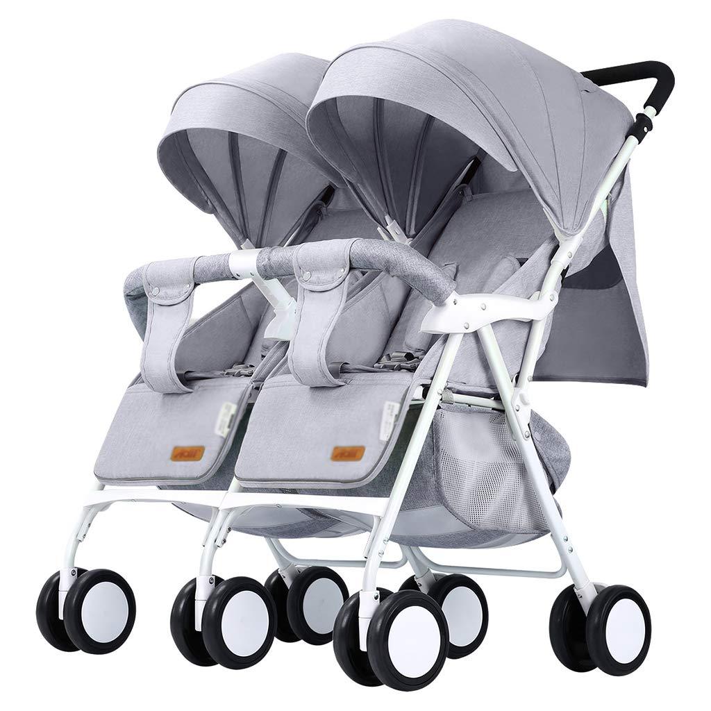 OCYE Double Stroller, Twin Tandem Baby Stroller, Adjustable backrest, Oversized Sleeping Basket, 5-Point Harness, Foldable Design, Easy to Transport