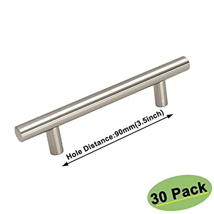 Charmant 3.5 Inch Cabinet Pulls Brushed Nickel   Homdiy HD201BSS 30 Pack Storage  Cabinet Hardware Door Handles
