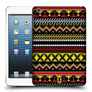 Head Case Designs Amarillo T Boli Impresiones Caso Duro Trasero para Apple iPad mini 1 / 2 / 3