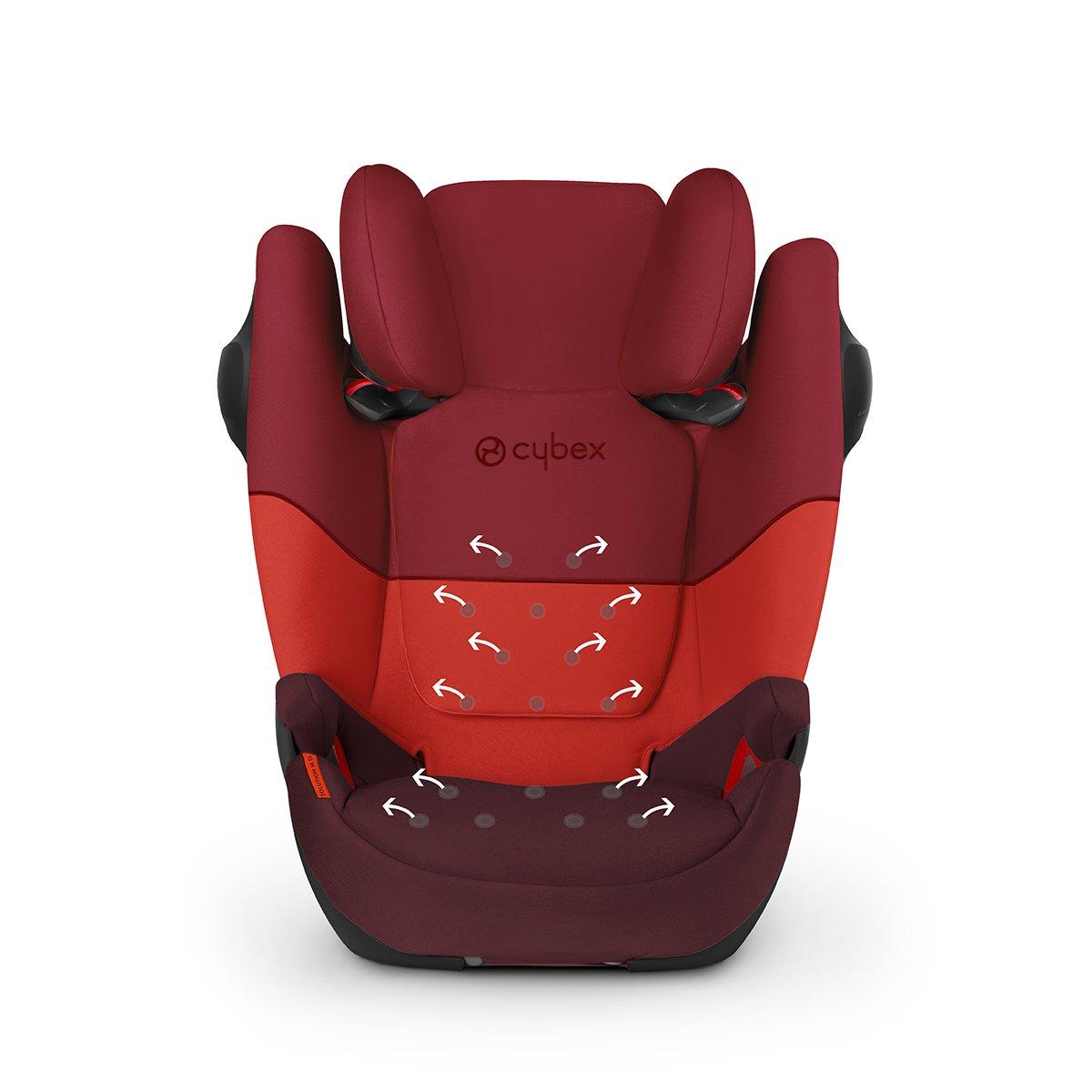 Rumba Red CYBEX Silver Si/ège Auto /Évolutif Pallas M-Fix SL 9-36 kg De 9 Mois /à 12 Ans Environ Adapt/é aux Voitures Avec ou Sans ISOFIX Groupes 1//2//3
