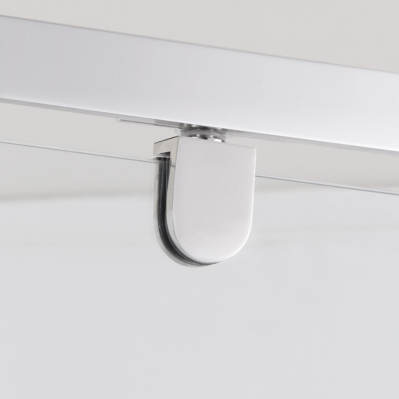 SUNNY SHOWER A33, Semi-frameless Neo-Angle Corner Shower Doors, Fit to 36 3/5'' W x 36 3/5'' D x 71 4/5'' H, 1/4'' Clear Glass, Chrome Finish- Back-wall & Shower Base Sold Separately by SUNNY SHOWER (Image #3)