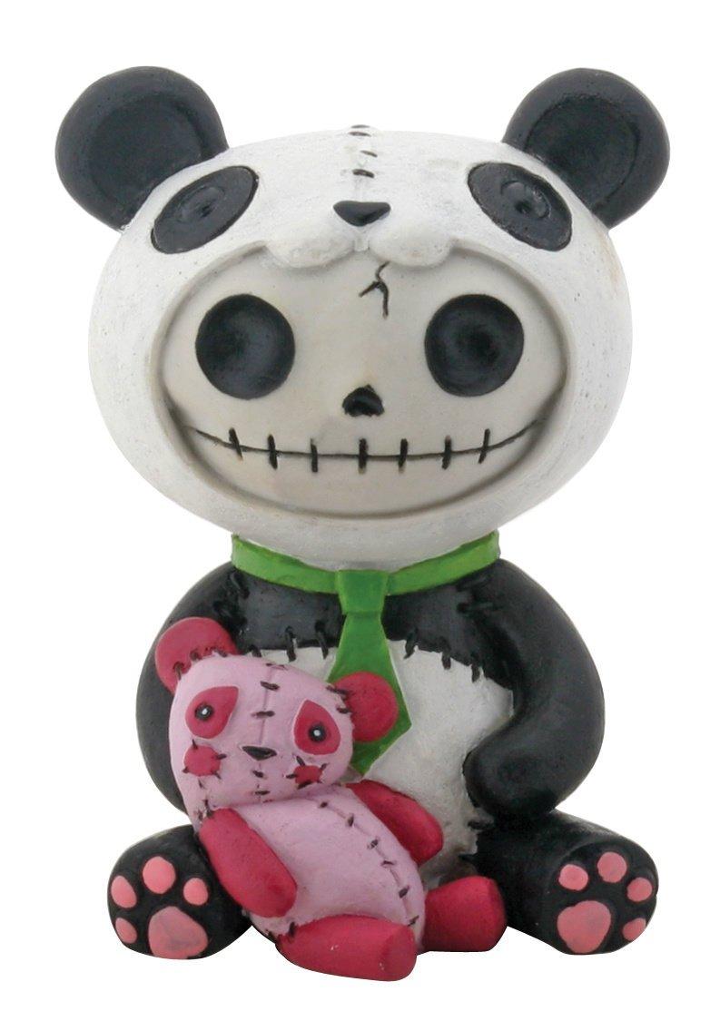 SUMMIT COLLECTION Furrybones Pandie Signature Skeleton in Panda Bear Costume with Pink Teddy Bear