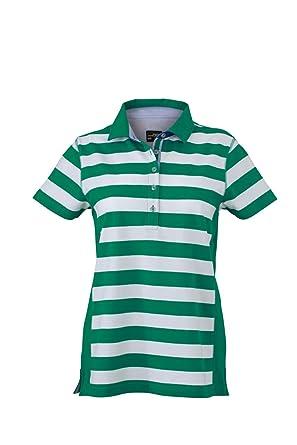 Camiseta Polo de Moda con Rayas Camiseta Polo Mujer náutico ...