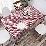 HOMEE Simple modern cloth cotton tablecloth restaurant Christmas decorations,J,120X120cm