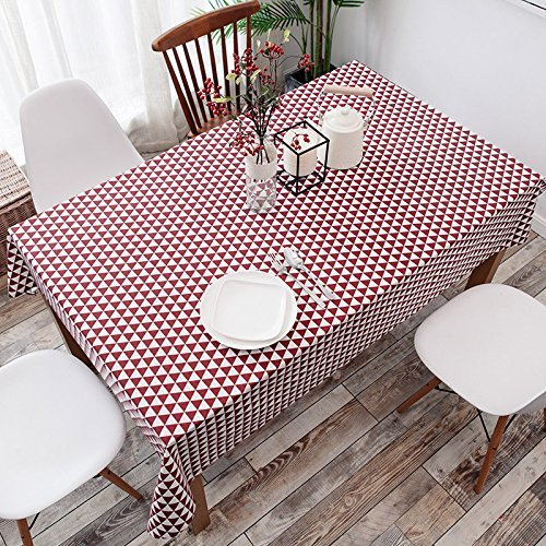 HOMEE Simple modern cloth cotton tablecloth restaurant Christmas decorations,J,120X120cm by HOMEE