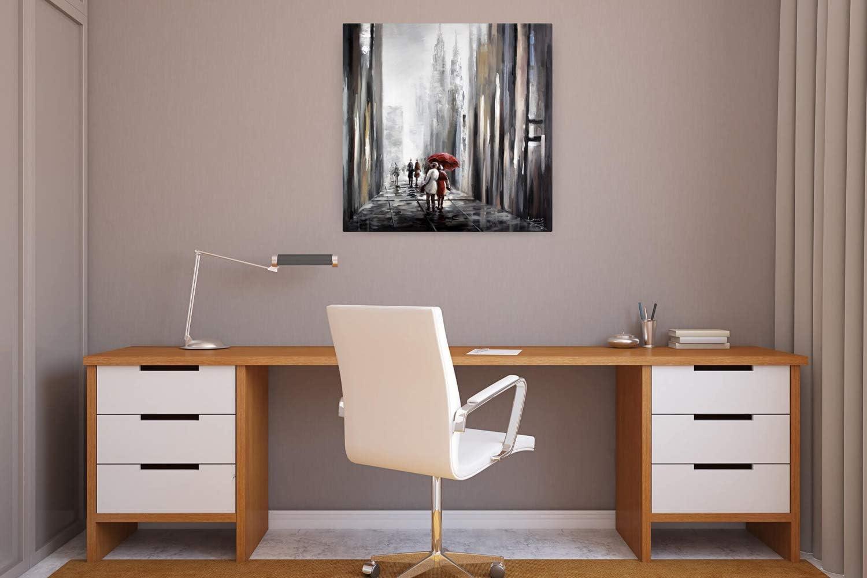 Quadro da Parete Dipinto in Acrilico Arte Moderna in Un Pezzo Tele Originali manufatte XXL Nero Grigio KunstLoft/® Dipinto Acrilico con Te al Mio Fianco 80x80cm
