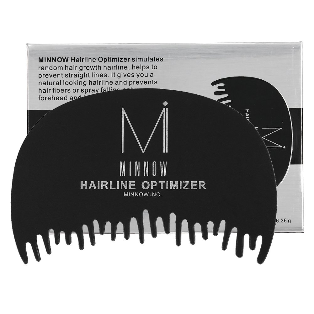 Minnow Hairline Optimizer Hair Building Fibers Comb Loss Concealer Powder Guideline Tool Professional Hair Fiber Forehead Pre-hair Line Hairline Plastic Dedicated Comb
