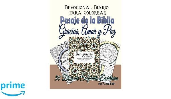 Devocional Diario para Colorear Pasajes de la Biblia: Gracias, Amor ...