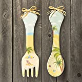 Beach design Wall Spoon and Fork set from gifts by fashioncraft 12PK