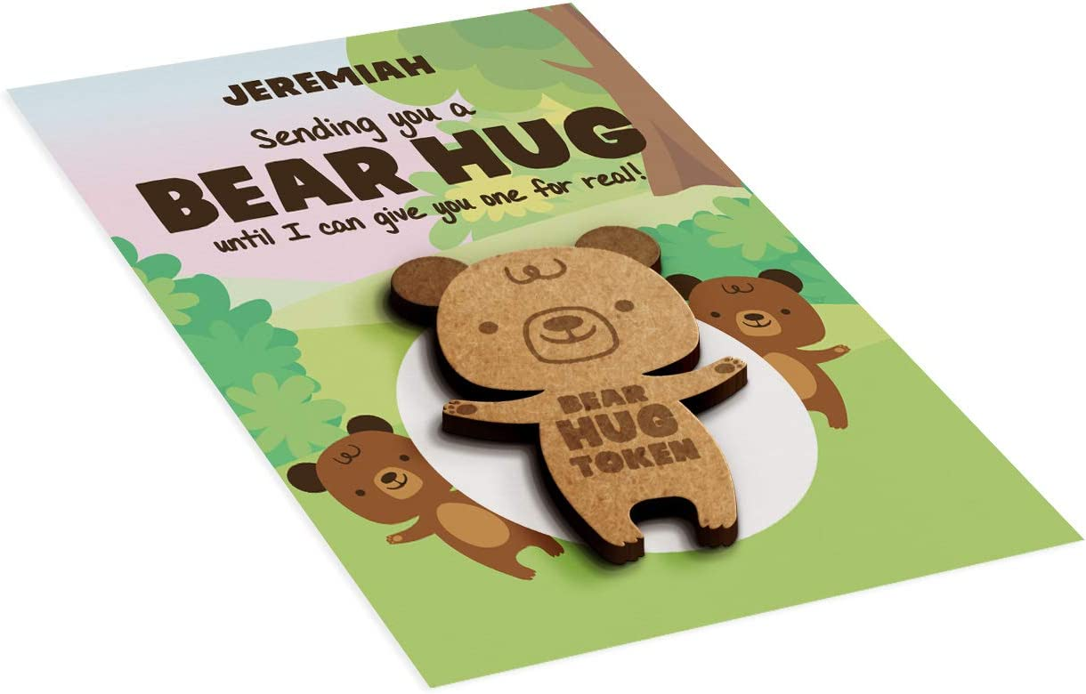 A6 Token Card Simply Wallart Personalised Forest Bear Hug