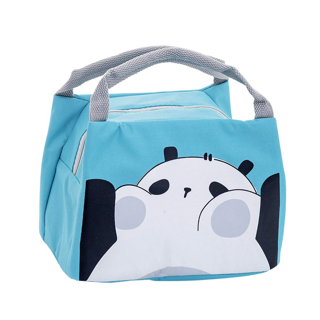 Oyachic Cute Thermal Lunch Bag Insulated Tote Leakproof Zipper Bag with Foil Liner for Office, School and Picnic (big mouth face)