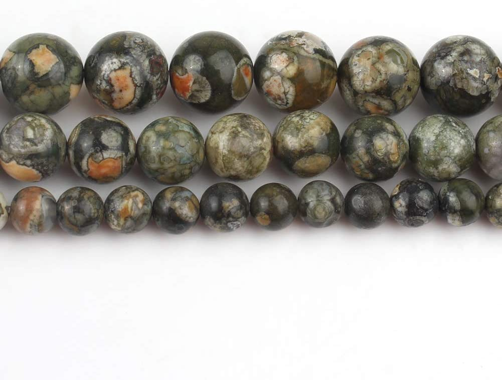 Yochus 6mm Blue Crazy Lace Agates Round Loose Beads Natural Stone Beads for Jewelry Making