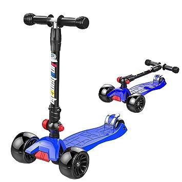 Patinete Scooter Plegable para niños: Ajustable, con 3 ...